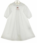 """<img src=""""https://p11.secure.hostingprod.com/@grammies-attic.com/ssl/images/blue-sold-1.gif"""">  NEW Bailey Boys White Batiste Smocked Daygown with Santa Embroidery for Baby Boys"""