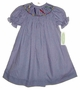 "<img src=""https://p11.secure.hostingprod.com/@grammies-attic.com/ssl/images/blue-sold-1.gif""> NEW Be Mine Navy Checked Bishop Smocked Dress with Crayons Embroidery"