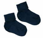 NEW Carlino Navy Cotton Socks with Plain Cuff