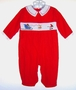 "<img src=""https://p11.secure.hostingprod.com/@grammies-attic.com/ssl/images/blue-sold-1.gif""> NEW Carriage Boutiques Red Corduroy Smocked Baby Longall with Santa Embroidery"