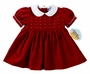 "<img src=""https://p11.secure.hostingprod.com/@grammies-attic.com/ssl/images/blue-sold-1.gif""> NEW Carriage Boutiques Red Velvet Short Sleeved Dress with Seed Pearls"