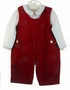 """<img src=""""https://p11.secure.hostingprod.com/@grammies-attic.com/ssl/images/blue-sold-1.gif""""> NEW Carriage Boutiques Red Velvet Shortall with White Shirt"""