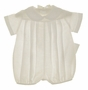 NEW Chabre Ivory Linen Romper with Pleated Front