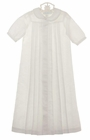 NEW Chabre White Linen Long Pleated Daygown