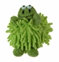 NEW Chenille Green Baby Frog Rattle
