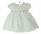 NEW Cinderella Ivory Satin and Organdy Dress with Beading, Sequins,and Pearls