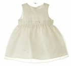 NEW Cinderella Ivory Satin and Organdy Dress with Tiny Pearls