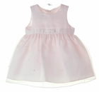 NEW Cinderella Pink Satin and Organdy Dress with Tiny Pearls