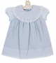 NEW Claire & Charlie by Anavini Blue Float Dress with Swiss Eyelet Trimmed Collar