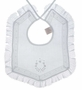 "<img src=""https://p11.secure.hostingprod.com/@grammies-attic.com/ssl/images/blue-sold-1.gif""> NEW Dome Heirloom Style Baby Bib with Delicate Lace and Embroidery"