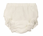 NEW Ecru (Ivory) Diaper Cover/Panty with Eyelet Ruffles for Babies, Toddlers, and Little Girls