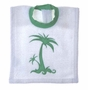 "<img src=""https://p11.secure.hostingprod.com/@grammies-attic.com/ssl/images/blue-sold-1.gif""> NEW Elegant Baby White Terry Bib with Palm Tree Applique"