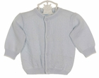 NEW Feltman Brothers Pale Blue Sweater with White Trim