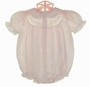 NEW Feltman Brothers Pale Pink Bubble with Embroidery and Lace Insertion