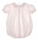 NEW Feltman Brothers Pale Pink Bubble with Pintucks and Embroidery