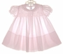 """<img src=""""https://p11.secure.hostingprod.com/@grammies-attic.com/ssl/images/blue-sold-1.gif""""> NEW Feltman Brothers Pale Pink Smocked Baby Dress with Pleated Front"""