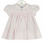 """<img src=""""https://p11.secure.hostingprod.com/@grammies-attic.com/ssl/images/blue-sold-1.gif"""">  NEW Hand Embroidered Pink Smocked Dress with Pintucks and Lace Insertion and Matching Diaper Cover"""