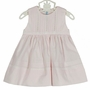 NEW Feltman Brothers Pink Sleeveless Dress with Pintucks and Lace Insertion and Matching Diaper Cover