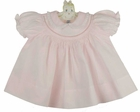 "<img src=""https://p11.secure.hostingprod.com/@grammies-attic.com/ssl/images/blue-sold-1.gif""> NEW Feltman Brothers Pink Smocked Dress with White Embroidery and Lace"