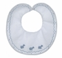 """<img src=""""https://p11.secure.hostingprod.com/@grammies-attic.com/ssl/images/blue-sold-1.gif""""> NEW Feltman Brothers White Bib with Embroidered Airplanes"""