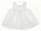 NEW Feltman Brothers White Bishop Style Baby Slip with Lace Trim