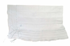 """<img src=""""https://p11.secure.hostingprod.com/@grammies-attic.com/ssl/images/blue-sold-1.gif"""">  NEW Feltman Brothers White Cotton Knit Blanket with Blue or Pink Ribbons and Embroidery"""