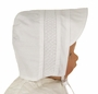 """<img src=""""https://p11.secure.hostingprod.com/@grammies-attic.com/ssl/images/blue-sold-1.gif""""> NEW Feltman Brothers White Hat with White Smocking"""