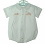 NEW Feltman Brothers White Romper with Holiday Embroidery