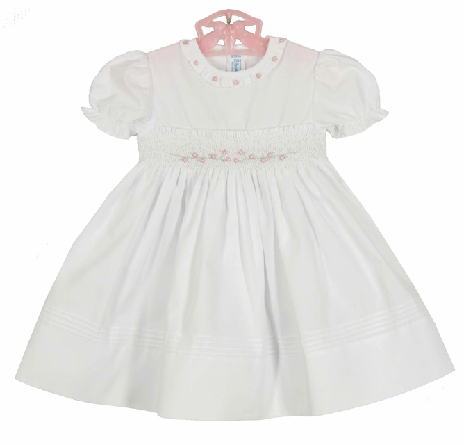 Feltman Brothers Smocked Dress with Pearls