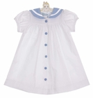 NEW Funtasia White Cotton Sailor Dress with Blue Trim