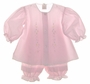 """<img src=""""https://p11.secure.hostingprod.com/@grammies-attic.com/ssl/images/blue-sold-1.gif""""> NEW Garden of Angels Embroidered Pantaloon Set in Pink or White with Pintucks and Lace"""