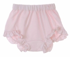 NEW Girls Pink Cotton Knit Diaper Cover with Ruffled Trim