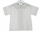 NEW Glorimont White Linen Shirt with Front Pleat