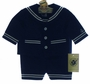 "<img src=""https://p11.secure.hostingprod.com/@grammies-attic.com/ssl/images/blue-sold-1.gif""> NEW Good Lad Navy Sailor Sunsuit with Jacket and Hat for Toddlers"