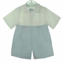 NEW Gordon and Company Blue and White Button on Shorts Set