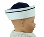NEW Gordon and Company Navy Pique Sailor Hat with White Trim