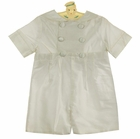 NEW Gordon and Company Pearl White Silk Button On Sailor Shorts Set