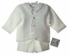 NEW Gordon and Company White Linen Eton Suit with Shorts