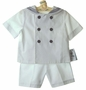 NEW Gordon and Company White Sailor Shorts Set with Navy Trim
