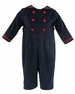 NEW Gordon & Company Navy Corduroy Button On Sailor Suit with Red Trim