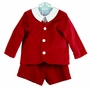 NEW Gordon & Company Red Velvet Eton Suit