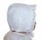 """<img src=""""https://p11.secure.hostingprod.com/@grammies-attic.com/ssl/images/blue-sold-1.gif""""> NEW Heirloom Style White Eyelet Bonnet with Ruffle"""