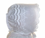 NEW Heirloom Style White Eyelet Embroidered Christening Bonnet
