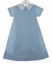NEW Highland Porch Blue Daygown and Matching Slip with Teddy Bear Embroidery