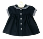 NEW Imagewear Dark Navy Cotton Sailor Dress with White Trim