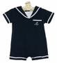 "<img src=""https://p11.secure.hostingprod.com/@grammies-attic.com/ssl/images/blue-sold-1.gif"">  NEW Imagewear Dark Navy Cotton Knit Sailor Romper with White Braid Trim"