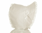 "<img src=""https://p11.secure.hostingprod.com/@grammies-attic.com/ssl/images/blue-sold-1.gif""> NEW Ivory Corduroy Bonnet with Lace Trim and Bows"