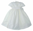 NEW Katie and Company Pearl White Silk Dress with Matching Sash