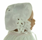 NEW Keepsake-Hanky Bonnet with Battenberg Lace Trim