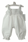 NEW Lavender Blue White Cotton Romper with Battenburg Lace Trim
